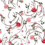 Background with flowers and leaves Royalty Free Stock Photography
