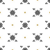 Trendy floral pattern, Asian motifs seamless wallpaper, interpretation ethnic ornament Royalty Free Stock Photo