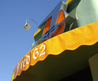 Trendy Fred 62 sign on Vermont Ave Los Angeles Royalty Free Stock Image