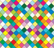 Colorful mosaic seamless pattern. Paper cut out pieces background. Trendy fresco mosaic background in bright colors. Paper cut out pieces. Raster royalty free illustration