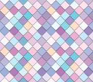 Trendy fresco mosaic background in pastel colors. Raster stock illustration