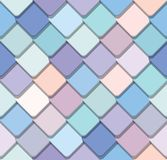 Trendy fresco mosaic seamless background in pastel colors. Vector royalty free illustration