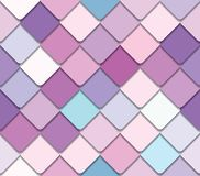 Trendy fresco mosaic seamless background in pastel colors. Vector stock illustration