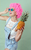 Trendy funky girl Royalty Free Stock Photography