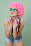 Trendy funny girl Stock Photos