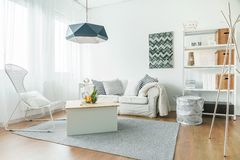Trendy furniture in room Royalty Free Stock Images