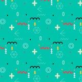 Trendy geometric elements memphis pattern. Stock Photography