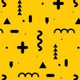 Trendy geometric elements memphis pattern. Royalty Free Stock Photos