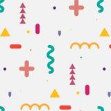 Trendy geometric elements memphis pattern. Stock Photos
