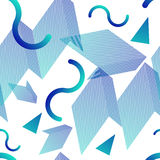 Trendy geometric seamless pattern with 80s style. Background Royalty Free Stock Photos