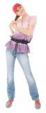 Trendy girl with baseball cap Stock Photos