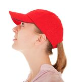 Trendy girl with baseball cap Stock Image