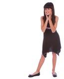 Trendy Girl Cute Pose Royalty Free Stock Photos