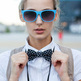 Trendy girl face Royalty Free Stock Image