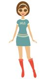 Trendy girl Stock Image