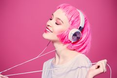 Enjoy youth music royalty free stock image