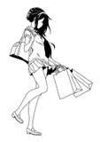 Trendy girl shopping Stock Image