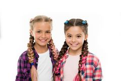 Trendy girls. Sisters family look outfit. Dress similar with best friend. Dress to match your friend. Best friend. Dressing. Friends wear similar outfits have royalty free stock photos