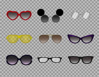 Trendy glasses, stylish modern eyewear, optics,sunglasses Royalty Free Stock Images