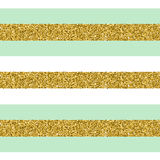 Trendy gold strip vector seamless pattern. Stock Photo