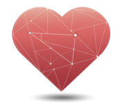 Trendy gorgeous illustration light line in heart symbol vector Royalty Free Stock Photo