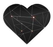 Trendy gorgeous illustration light line in heart symbol vector Stock Photos