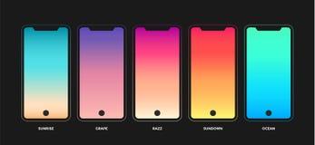 Trendy gradient swatches stock illustration