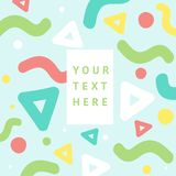 Background with geometric, creative pattern. Colorful textures. Abstract shapes compositions. Trendy Graphic Design for banner, poster, card, cover, invitation royalty free illustration