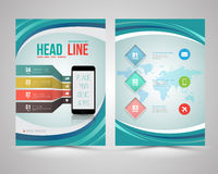 Trendy Graphic Design Layout with smart phone Royalty Free Stock Photo