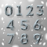 Trendy grey fractal geometric numbers. Royalty Free Stock Photography
