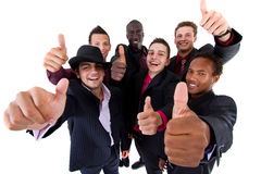 Trendy groep sucessful zakenlieden stock foto