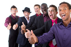 Trendy group of sucessful businessmen Stock Images