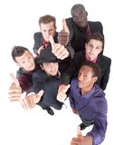 Trendy group of sucessful businessmen Stock Photo