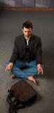 Trendy guy meditating Royalty Free Stock Images