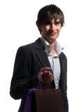 Trendy guy at shopping Stock Photo