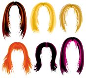 Trendy hair styling Stock Images