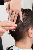 Trendy haircut Stock Photos