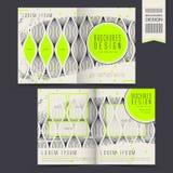 Trendy half-fold template design Stock Photography