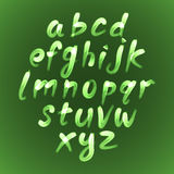 Trendy hand drawing alphabet, vector illustration. Stock Photos