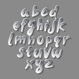 Trendy hand drawing alphabet, vector illustration. Royalty Free Stock Image