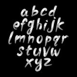 Trendy hand drawing alphabet, vector illustration. Art Royalty Free Stock Photography