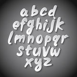 Trendy hand drawing alphabet, vector illustration. Royalty Free Stock Photos