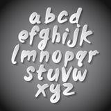 Trendy hand drawing alphabet, vector illustration. Art Royalty Free Stock Photos