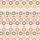 Trendy hand drawn line circle round shape seamless pattern vector design for fashion ,fabric, wallpaper and all prints. On light pink background color royalty free illustration