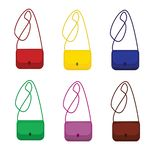 Trendy handbags collection. Female fashion accessory. Isolated objects. Vector illustration royalty free illustration