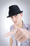 Trendy handsome young man Stock Images