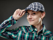Trendy handsome young man Stock Photography