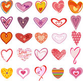 Trendy Hearts Stock Images