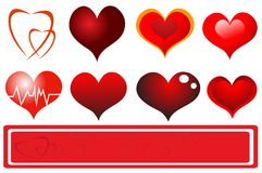Trendy Hearts Stock Photos