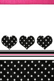 Trendy Hearts Polka Dots Stock Photo